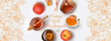 Rosh Hashanah apples with honey and Star of David