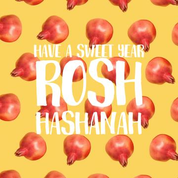 Rosh Hashanah with rotating pomegranates