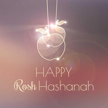 Rosh Hashanah garland with apples