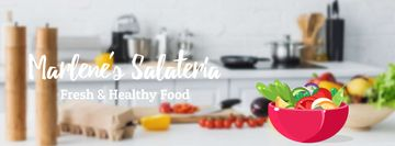 Cooking healthy vegetable salad