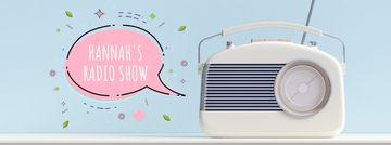 Retro radio with speech bubble