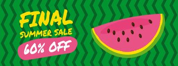 Summer Sale Ad Piece of Watermelon