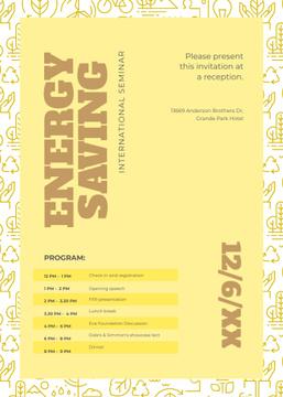Energy saving technologies seminar