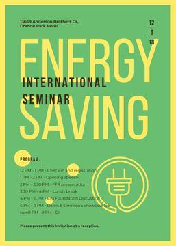 Socket logo with frame for Energy Saving seminar