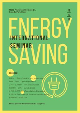 Socket logo with frame for Energy Saving seminar
