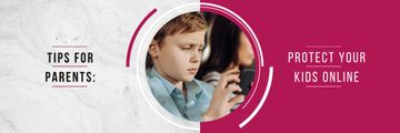 Online Safety Tips with Kid Using Smartphone