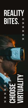 Virtuality Quote Man Using Vr Glasses