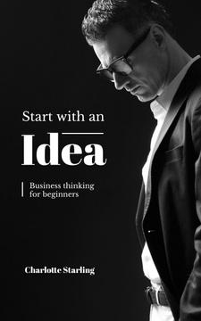 Confident Businessman Thinking of Idea