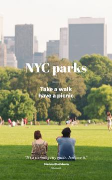 People in New York City Park