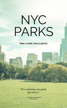 New York city park view