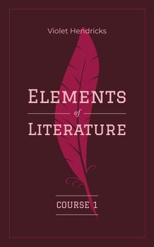 Literature Inspiration Pink Quill Pen
