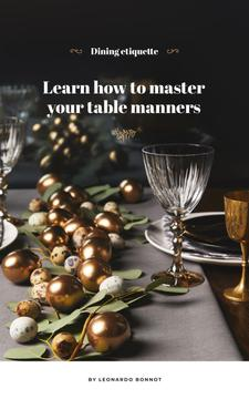 Festive formal dinner table setting