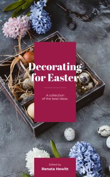 Easter Decor Quail Eggs in Nest