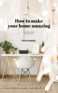 Home Design Typewriter on Working Table in White