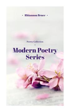 Poetry Series Cover Spring Flowers in Pink