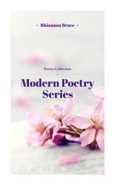 Poetry Series Cover Spring Flowers in Pink