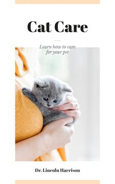 Cat Care Guide Woman Hugging Kitten