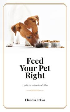 Jack Russell Dog Eating Its Food