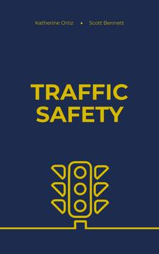Traffic Safety Lights Icon on Blue
