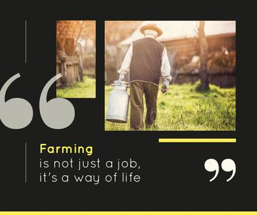 Farming quote Man working in Village