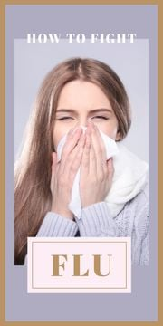 Woman suffering from flu