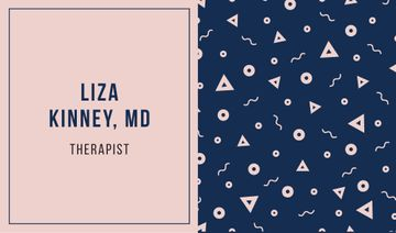 Therapist Ad with Bright Memphis Pattern