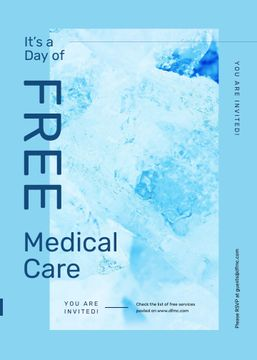 Free Medical Care day offer in blue