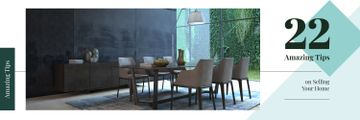 Stylish dining room interior