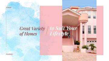 Modern pink house facade