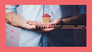 Hands holding house model