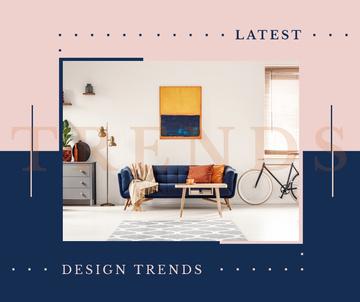 Cozy interior in light colors