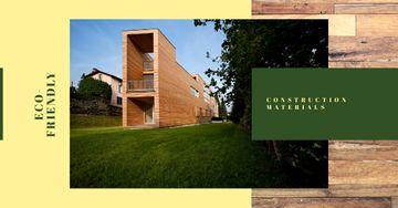 Eco-Friendly Construction Wooden House Facade