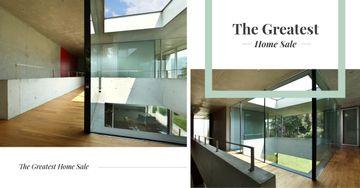 Modern house interior and facade