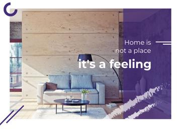 Real Estate Ad with Cozy Interior in Light Colours