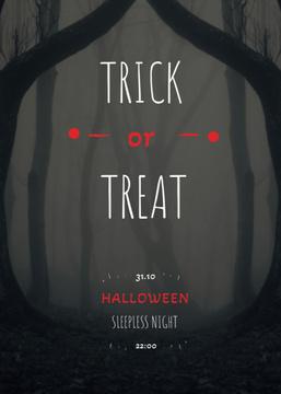 Halloween Night Events Invitation Scary Zombie
