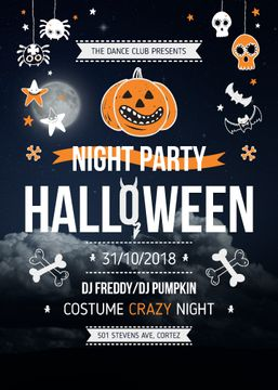 Halloween Night Party Scary Icons