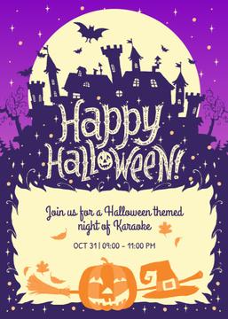 Happy Halloween Karaoke Night Scary House