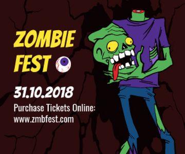 Halloween scary zombie