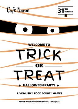 Halloween Party Scary Mummy