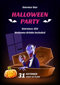 Halloween scary vampire