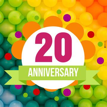 Anniversary celebration on Colourful Pattern