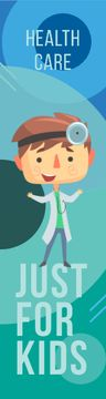 Kids' Healthcare Confident Doctor with Stethoscope
