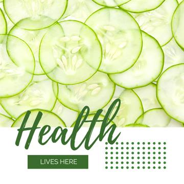 Healthy Food Sliced Green Cucumbers