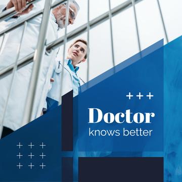 Team of Doctors Talking in Blue