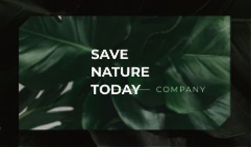 Eco Company with Green Plant Leaves