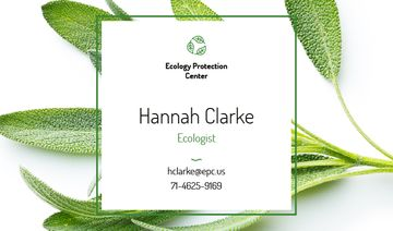 Ecologist Services with Healthy Green Herb