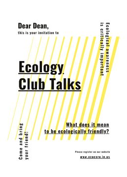 Eco Club invitation on  geometric lines