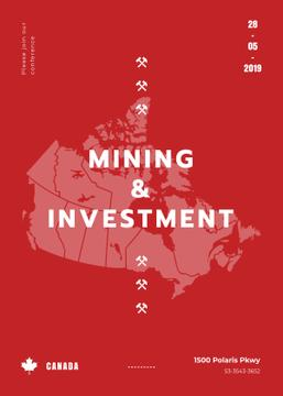 Canada map with frame for Mining industry conference