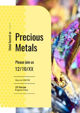 Precious Metals shiny Stone surface