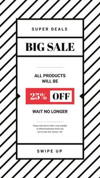 Sale Offer Minimalistic Geometric Pattern